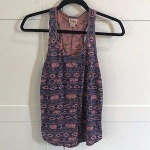 Mossimo tribal tank in peach and blue